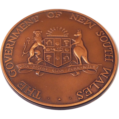 Government of NSW Antique Copper
