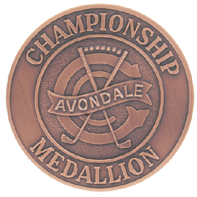 Avondale Golf Club Antique Copper